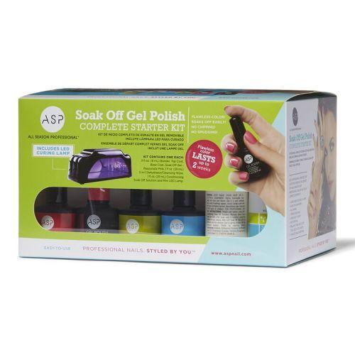 Best At-Home Gel Nail Kit - ASP Soak Off Gel Polish Complete Starter Kit Review